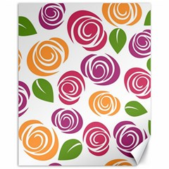 Colorful Seamless Floral Flowers Pattern Wallpaper Background Canvas 11  x 14