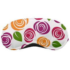 Colorful Seamless Floral Flowers Pattern Wallpaper Background Sleeping Masks