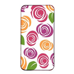 Colorful Seamless Floral Flowers Pattern Wallpaper Background Apple Iphone 4/4s Seamless Case (black)