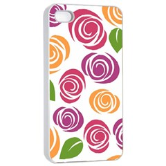 Colorful Seamless Floral Flowers Pattern Wallpaper Background Apple Iphone 4/4s Seamless Case (white)