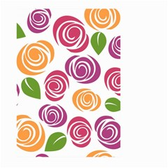 Colorful Seamless Floral Flowers Pattern Wallpaper Background Large Garden Flag (Two Sides)
