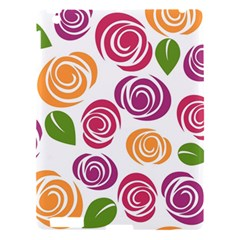 Colorful Seamless Floral Flowers Pattern Wallpaper Background Apple Ipad 3/4 Hardshell Case
