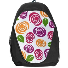 Colorful Seamless Floral Flowers Pattern Wallpaper Background Backpack Bag
