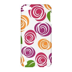 Colorful Seamless Floral Flowers Pattern Wallpaper Background Apple Ipod Touch 5 Hardshell Case