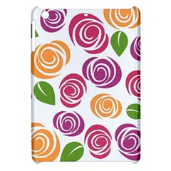 Colorful Seamless Floral Flowers Pattern Wallpaper Background Apple Ipad Mini Hardshell Case