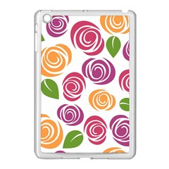 Colorful Seamless Floral Flowers Pattern Wallpaper Background Apple Ipad Mini Case (white)