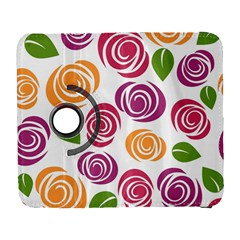 Colorful Seamless Floral Flowers Pattern Wallpaper Background Galaxy S3 (flip/folio)