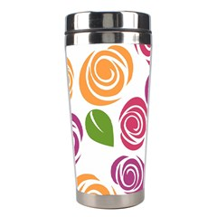 Colorful Seamless Floral Flowers Pattern Wallpaper Background Stainless Steel Travel Tumblers