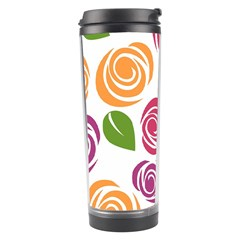 Colorful Seamless Floral Flowers Pattern Wallpaper Background Travel Tumbler