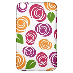 Colorful Seamless Floral Flowers Pattern Wallpaper Background Samsung Galaxy Tab 3 (8 ) T3100 Hardshell Case
