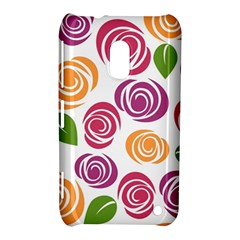 Colorful Seamless Floral Flowers Pattern Wallpaper Background Nokia Lumia 620
