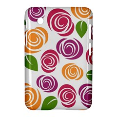 Colorful Seamless Floral Flowers Pattern Wallpaper Background Samsung Galaxy Tab 2 (7 ) P3100 Hardshell Case