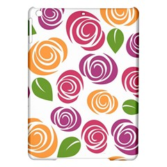 Colorful Seamless Floral Flowers Pattern Wallpaper Background Ipad Air Hardshell Cases
