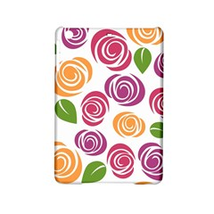 Colorful Seamless Floral Flowers Pattern Wallpaper Background Ipad Mini 2 Hardshell Cases