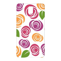 Colorful Seamless Floral Flowers Pattern Wallpaper Background Samsung Galaxy Note 3 N9005 Hardshell Back Case