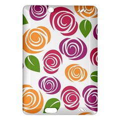 Colorful Seamless Floral Flowers Pattern Wallpaper Background Amazon Kindle Fire Hd (2013) Hardshell Case