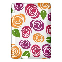 Colorful Seamless Floral Flowers Pattern Wallpaper Background Kindle Fire Hdx Hardshell Case