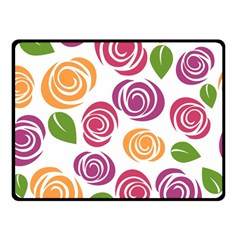 Colorful Seamless Floral Flowers Pattern Wallpaper Background Double Sided Fleece Blanket (Small)