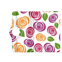 Colorful Seamless Floral Flowers Pattern Wallpaper Background Kindle Fire Hdx 8 9  Flip 360 Case