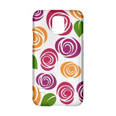 Colorful Seamless Floral Flowers Pattern Wallpaper Background Samsung Galaxy S5 Hardshell Case