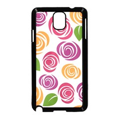 Colorful Seamless Floral Flowers Pattern Wallpaper Background Samsung Galaxy Note 3 Neo Hardshell Case (black)