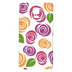 Colorful Seamless Floral Flowers Pattern Wallpaper Background Galaxy Note 4 Back Case