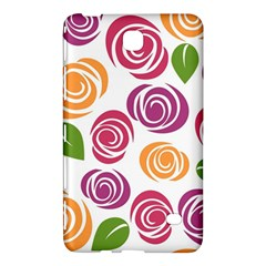 Colorful Seamless Floral Flowers Pattern Wallpaper Background Samsung Galaxy Tab 4 (8 ) Hardshell Case