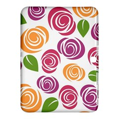 Colorful Seamless Floral Flowers Pattern Wallpaper Background Samsung Galaxy Tab 4 (10 1 ) Hardshell Case