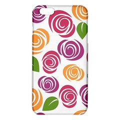 Colorful Seamless Floral Flowers Pattern Wallpaper Background iPhone 6 Plus/6S Plus TPU Case