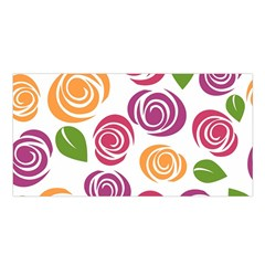 Colorful Seamless Floral Flowers Pattern Wallpaper Background Satin Shawl