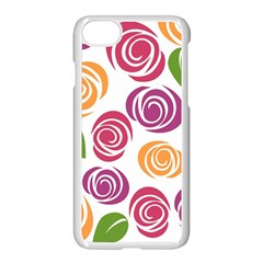 Colorful Seamless Floral Flowers Pattern Wallpaper Background Apple Iphone 7 Seamless Case (white)