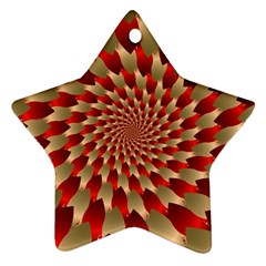 Fractal Red Petal Spiral Ornament (star)