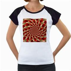 Fractal Red Petal Spiral Women s Cap Sleeve T