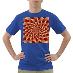 Fractal Red Petal Spiral Dark T-Shirt