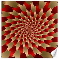 Fractal Red Petal Spiral Canvas 20  X 20
