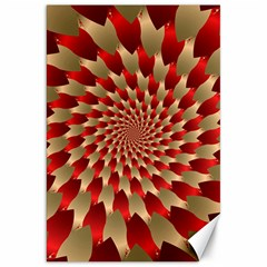 Fractal Red Petal Spiral Canvas 20  X 30