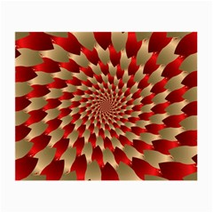 Fractal Red Petal Spiral Small Glasses Cloth (2 Side)