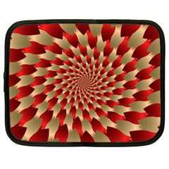 Fractal Red Petal Spiral Netbook Case (Large)