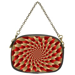 Fractal Red Petal Spiral Chain Purses (one Side)