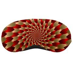 Fractal Red Petal Spiral Sleeping Masks