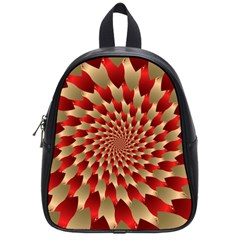 Fractal Red Petal Spiral School Bags (small)