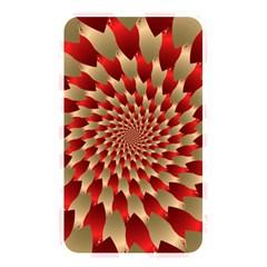 Fractal Red Petal Spiral Memory Card Reader