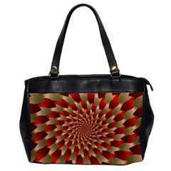 Fractal Red Petal Spiral Office Handbags