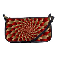 Fractal Red Petal Spiral Shoulder Clutch Bags