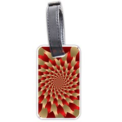 Fractal Red Petal Spiral Luggage Tags (two Sides)