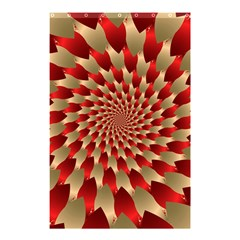 Fractal Red Petal Spiral Shower Curtain 48  X 72  (small)