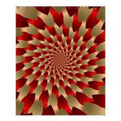 Fractal Red Petal Spiral Shower Curtain 60  X 72  (medium)
