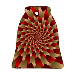 Fractal Red Petal Spiral Bell Ornament (two Sides)