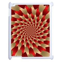 Fractal Red Petal Spiral Apple Ipad 2 Case (white)