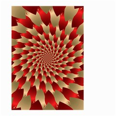 Fractal Red Petal Spiral Small Garden Flag (two Sides)